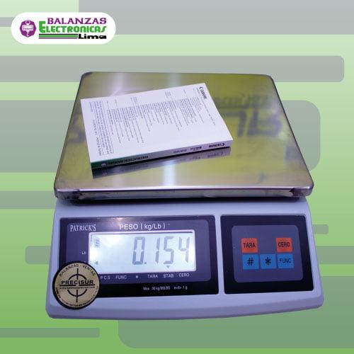 Balanza Gramera Patrick's una pantalla 30 kg