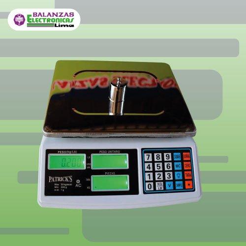 Balanza Gramera Patrick's 3 pantallas 30 kg