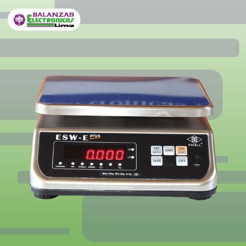 Balanza Gramera Excell ESW-E Plus 15 kg
